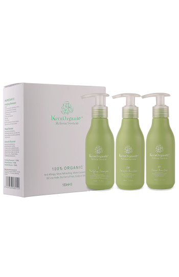 KeraOrganic Sets(Purifying shampoo+shape+smooth) 150ml*3